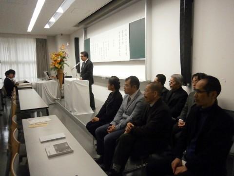 建築学科卒業証書授与式 ー 日月会からの祝辞